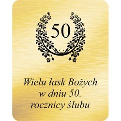 Grawer 4x5 cm, wzór numer 35 - 50 rocznica ślubu