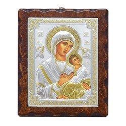 Ikona srebrna Matka Boska Nieustającej Pomocy 31187LAOROA