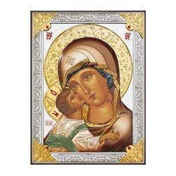 Ikona srebrna Matka Boska Włodzimierska 31178DA