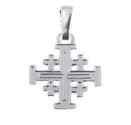 Krzyżyk srebrny Jerozolimski MO126
