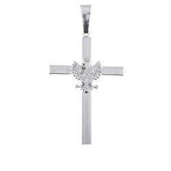 Krzyżyk srebrny z orłem  MO074