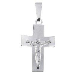 Krzyżyk  srebrny z wizerunkiem Jezusa MO028
