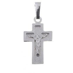Krzyżyk srebrny z wizerunkiem Jezusa  MO033