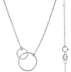 Łańcuszek celebrytka - dwa kółka okręgi przecinające się srebro pr 925 CEL28