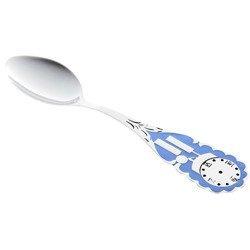 Łyżeczka srebrna z zegarem Ł15