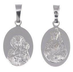 M38 Medalik srebrny - Matka Boska Częstochowska