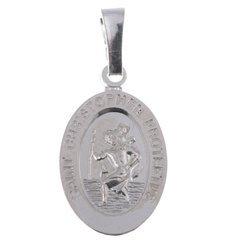 MM112 Medalik srebrny - Święty Krzysztof