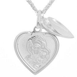 Medalik srebrny (2,1 g) - Serce otwierane M.B Częstochowska MK031