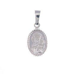 Medalik srebrny - Matka Boża Częstochowska Czarna Madonna M35