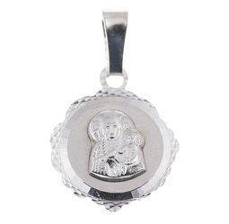 Medalik srebrny diamentowy - Matka Boska Częstochowska MD35