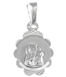 Medalik srebrny diamentowy - Matka Boska Częstochowska MD36