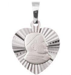 Medalik srebrny diamentowy - Papież Święty Jan Pawł II MD56