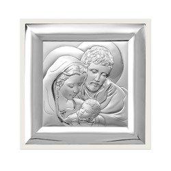 Obrazek Srebrny Święta Rodzina biała ramka 6365W