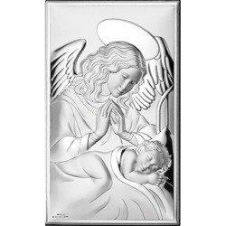 Obrazek srebrny Anioł Stróż nad dzieciątkiem 81285
