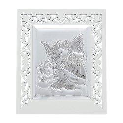 Obrazek srebrny Aniołek z latarenką 31120FPPBA