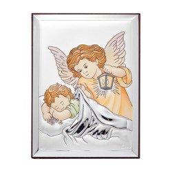 Obrazek srebrny Aniołek z latarenką 31122CER
