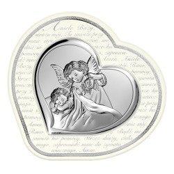 Obrazek srebrny Aniołek z latarenką 6448AS