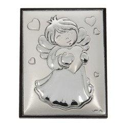 Obrazek srebrny Aniołek z sercem G7251