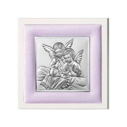 Obrazek srebrny Aniołki nad dzieckiem 750201R