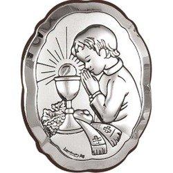 Obrazek srebrny I Komunia Św. Chłopczyk 6318/3