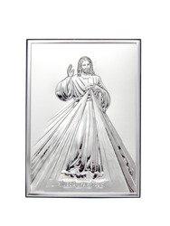 Obrazek srebrny Jezus Miłosierny - Jezu Ufam Tobie 6324