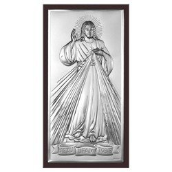 Obrazek srebrny Jezus Miłosierny – Jezu Ufam Tobie 6443WM