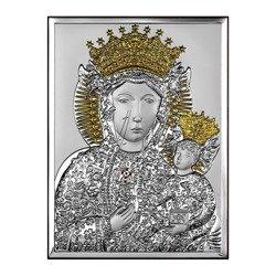 Obrazek srebrny Matka Boska Częstochowska 6520ORO