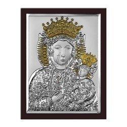 Obrazek srebrny Matka Boska Częstochowska 6520OROWM