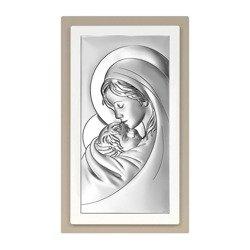 Obrazek srebrny Matka Boska z dzieciątkiem 6381TP