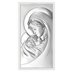 Obrazek srebrny Matka Boska z dzieciątkiem 6381W