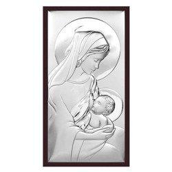 Obrazek srebrny Matka Boska z dzieciątkiem 6412WM