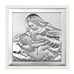 Obrazek srebrny Matka Boska z dzieciątkiem 6429W