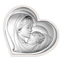 Obrazek srebrny Matka Boska z dzieciątkiem 6433W