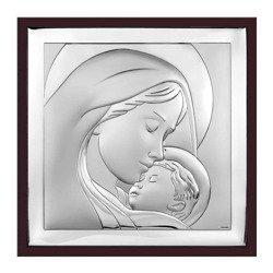 Obrazek srebrny Matka Boska z dzieciątkiem 6436WM