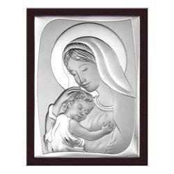 Obrazek srebrny Matka Boska z dzieciątkiem 6546WM