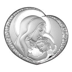 Obrazek srebrny Matka Boska z dzieciątkiem 6563