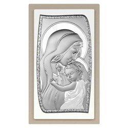 Obrazek srebrny Matka Boska z dzieciątkiem 6565TP