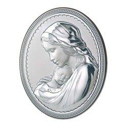 Obrazek srebrny Matka Boska z dzieciątkiem 781