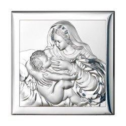 Obrazek srebrny Matka Boska z dzieciątkiem 80002