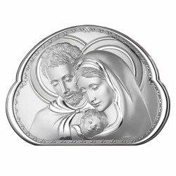 Obrazek srebrny Święta Rodzina 8002