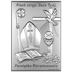 Obrazek srebrny pamiątka Bierzmowania 6721