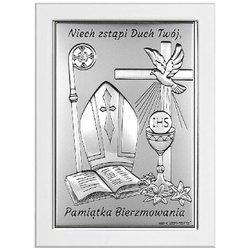 Obrazek srebrny pamiątka Bierzmowania 6721W