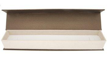 Pudełko na bransoletkę eleganckie brąz / ecrue ba-9