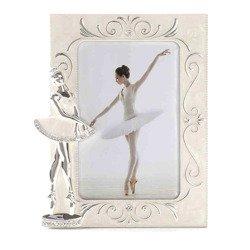 Ramka dziecięca z masy perłowej - beżowa, baletnica 473-3314