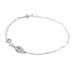 Różaniec srebrny - bransoletka na rękę, dziesiątka, 2,4-2,6 g, srebro pr. 925 BRS34