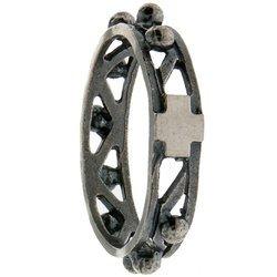 Różaniec srebrny obrączka na palec ażurowa, rozmiary 8-31  Srebro pr. 925 RPM09