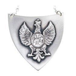 Ryngraf srebrny 925 Orzeł z Matką Boską R23