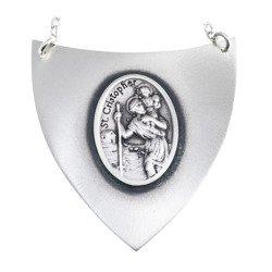 Ryngraf srebrny 925 Święty Krzysztof R34