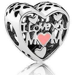 Srebrna przywieszka pr 925 Charms I LOVE YOU MOM PAN183