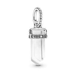 Srebrna przywieszka pr 925 Charms kulka koniczyny cyrkonie PAN185